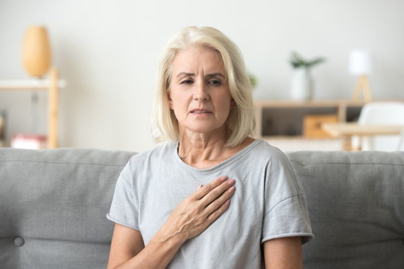 Woman with heart disease